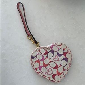 Coach Multi Coloured Heart Coin Case